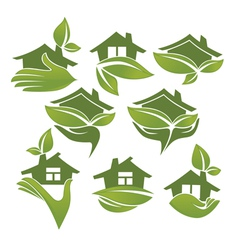 Ecological homes vector