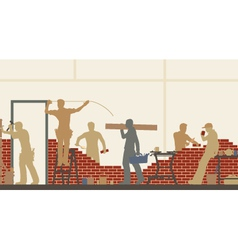 Builders at work vector