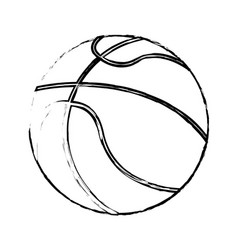 basketball sport ball image sketch vector image