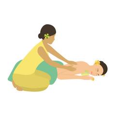 spa massage vector image