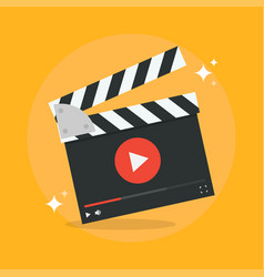 Film production concept vector