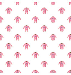 Romper for baby pattern vector