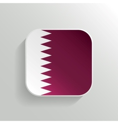 Button - qatar flag icon vector