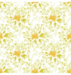 Seamless floral background vector image
