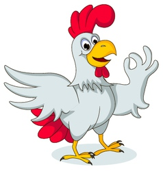 Funny chicken posing vector