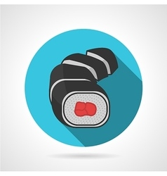 Flat color sushi rolls icon vector