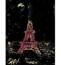 Picture of the eiffel tower vector
