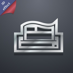 Newspaper icon symbol 3d style trendy modern vector