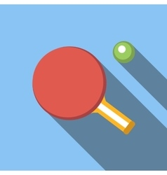Table tennis flat icon vector
