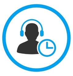 Operator time rounded icon vector