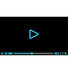 Video player for web  eps10 vector