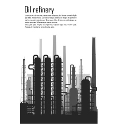 Oil and gas refinery isolated on white background vector