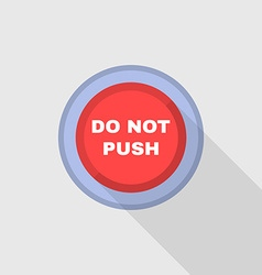 Industrial red button do not press flat design vector