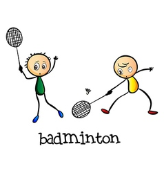 Badminton players vector