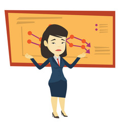 bankrupt business woman vector image vector image