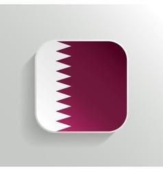 Button - Qatar Flag Icon vector image