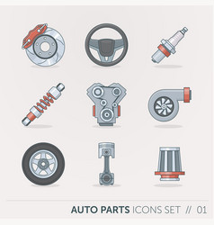 car spare parts vector image