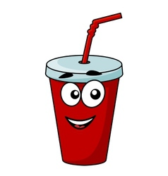Cartoon takeaway soda drink vector image