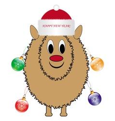 Christmas sheep vector image