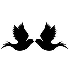 delicate doves icon image vector image