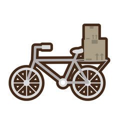 Delivery bicycle box distribution vector