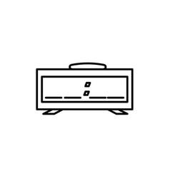 digital alarm icon vector image vector image