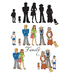 Family people on white background vector