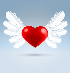 love wings vector image