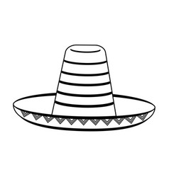 Mexican straw hat icon image vector