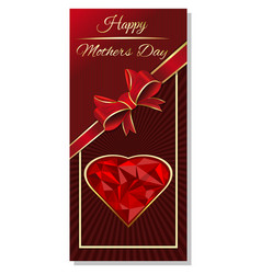 Mothers day greeting card design vector