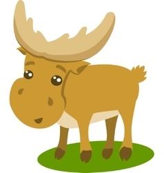 Of Beautiful Cartoon Reindeer vector image vector image