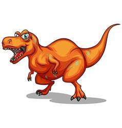 orange dinosaur with sharp teeth vector image