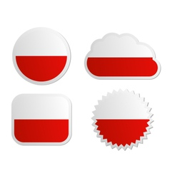 Poland flag labels vector image vector image