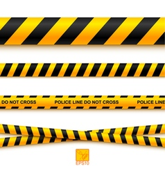 Police line tape and danger on a light background vector