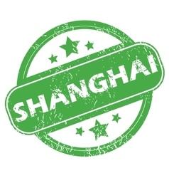 Shanghai green stamp vector