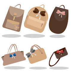 the collection of handbags vector image