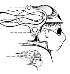 unreal head vector image