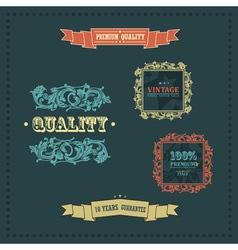 vintage ornate decor vector image