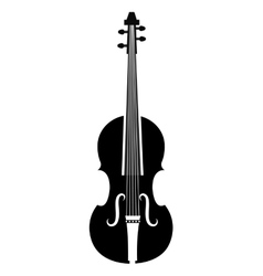 Violin music instrument icon in black and white vector image