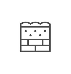 Wall insulation line icon vector
