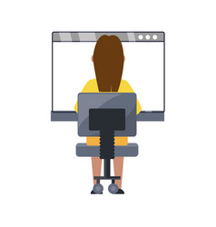 Woman on internet vector