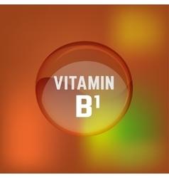 Vitamin B1 02 A vector image