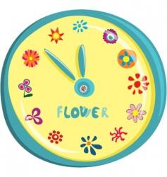 flower clock vector image