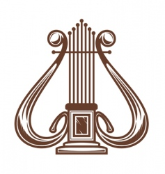 Musical instrument harp vector
