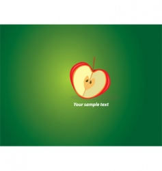 Sliced apple vector