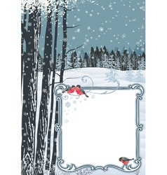 Frame on a winter landscape vector