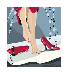 Red shoes vector