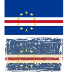 Cape verde grunge flag vector