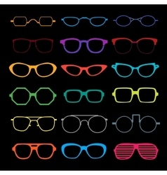 Set of different glasses vector