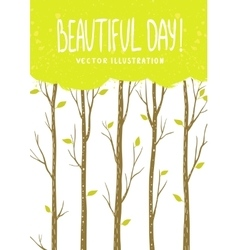 trees card vector image
